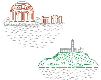 San Francisco PDF Embroidery Pattern Pack 2