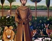 St. Francis of Assisi- Original painting 20x16 fine art