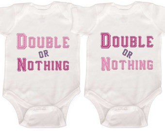 Funny Twin One Pieces Twin Baby Girl Bodysuits Twin Baby Girl Outfits Girl Twin Shirts