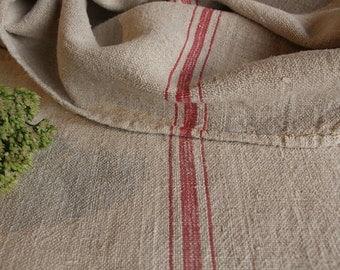 B554:  Grain Sack antique beautiful little girls ROSE pillow benchcushion french lin 41.73 long wedding decoration