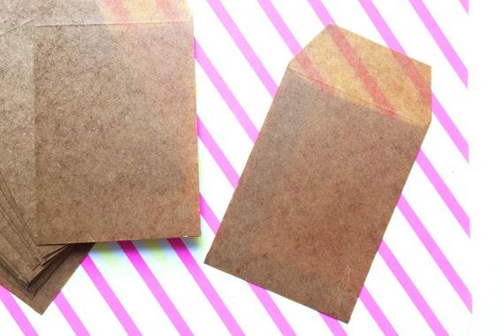 Waxed Flat Envelopes Brown Waxed Paper Gift Bags Diy