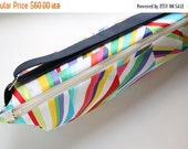 Zippered Yoga Bag, Pilates Mat Bag, Pretty Yoga Bag, Colorful Yoga Bag, Geometric Shapes, Rainbow Colors - Ready to Ship