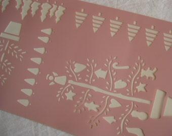 New Xmas stencil, Pre-cut stencil, byDelta. Christmas Trees.