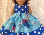 "Frozen Anna Elsa skating dots * Doll Dress fits 15"" - 18"" American Girl or Bitty Baby or My Twinn - sewnbyrachel"