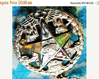 SALE OES NY Masonic Eastern Star Mason chain Pin T M Reg