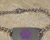Purple Medical Alert Bracelet