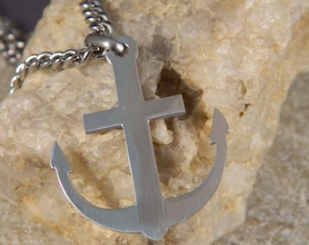 Anchor Necklace Men's Stainless Steel