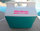 Vintage Mini Mate Igloo Cooler Teal