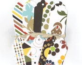 Clearance Sale / Assorted Large Scallop Die Cut Gift Hang Tags (Set of 10) (C1)