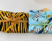 Set of 2  Boppy Pillow Covers  Tiger Print and Zebras  2 for 10   Nursing Pillow Cover   Nesting Pillow Cover  Nurture Pillow Covers