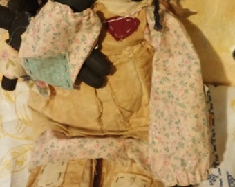 vintage black rag doll
