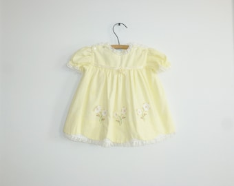 Vintage Yellow Baby Dress