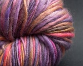 Fleur, HandSpun and Hand dyed Yarn,Blue faced Leicester wool, heavy worsted to bulky, Single, 100 yards