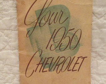 Vintage Book for 1950 Chevrolet Hints and Information SALE