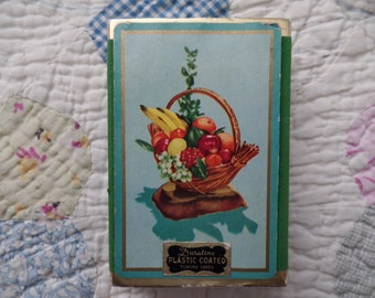 Vintage Duratone Floral Playing Cards