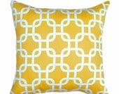 Yellow Pillow - Gotcha Corn Yellow  Chain Link Decorative Pillow Free Shipping