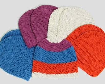 Baby Beanie Hat, Pull On Baby Hat, Crochet Baby Beanie