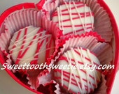 Valentine's Day Chocolate Covered Oreos Cookies Box of 8 Cookies FREE GREETING CARD Valentine Treats Party Favors Valentine  Wedding Favors