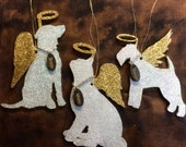 Angel Pets, Ornament, Dog, Cat, Remembrance, Custom, Names, OOAK, Gift, Holiday