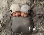 RTS Gray Newborn Photo Prop, Stretch Knit Baby Wraps, Elephant Gray Lux Photography Props, Infant Baby Photo Props, Newborn Props, Boy Twins