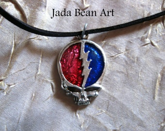 Sale Grateful Dead Steal Your Face Necklace