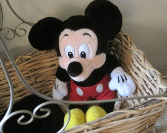 Sweet Vintage Plush Mickey Mouse from Disneyland or Walt Disney World