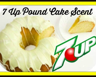 7 UP POuND CAKE Scented Soy Wax Melts - Flameless Wickless Soy Candle Tarts - Food - Dessert - Highly Scented - Handmade In USA