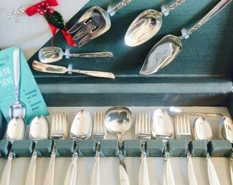 Vintage Community South Seas Silverware Set with Case