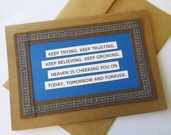 Handmade Affirmation Encouragement Greeting Card