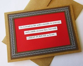 Affirmation Greeting Card. Quote. Positive Encouragement.