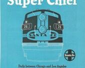 Vintage 1950s original ads advertisements - Santa Fe Super Chief Train Travel - instant collection - lot of 3