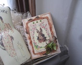 Vintage Easter Bunny Card - Happy Easter Card