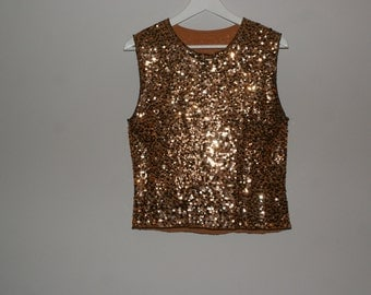 Vintage 1990's Gold Sequined Top