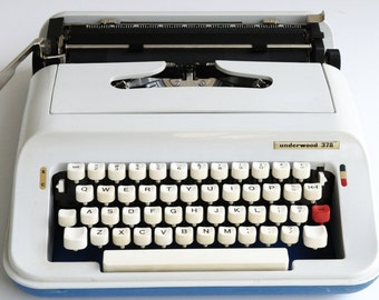 Vintage-Underwood 378 Portable-Manual-Typewriter...SALE...was 98.00