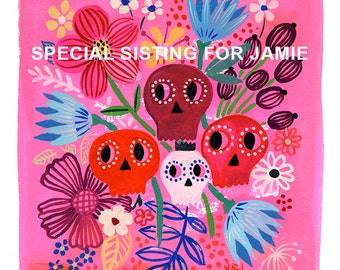 Special Listing for Jamie... - limited edition giclee print of an original watercolor / gouache illustration (8 x 10 in)