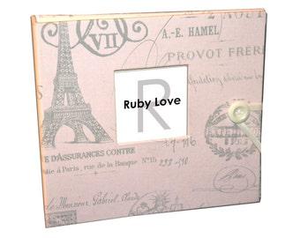 BABY BOOK | Vintage Pink Paris Baby Memory Book | Ruby Love Baby