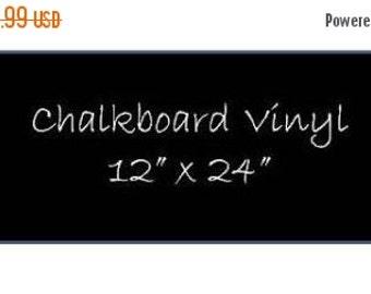 SALE- Chalkboard Vinyl 12 x 24 Sheet - DIY Chalkboard Labels, Blackboard Vinyl, Self Adhesive Chalkboard, Peel and Stick Chalkboard Surface