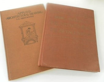 Two Vintage Architectural Drawing Books
