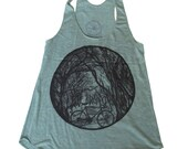 Womens Tank Bicycle in the woods - American Apparel - TriBlend Tank Top