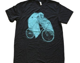 Bat on a Bicycle Tee Shirt - Unisex American Apparel T-Shirt