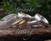 wedding bands in 14k white gold 14k yellow gold and 18k rose gold - private listing - remaining balance