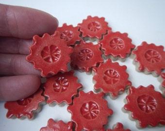 Red Mosaic Flower Tiles-Garden Mosaic Tiles
