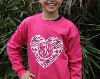 Monogram Valentine Aztec shirt