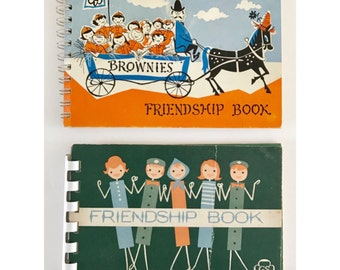 Pair of Scout Address Books Brownies Girl Scouts