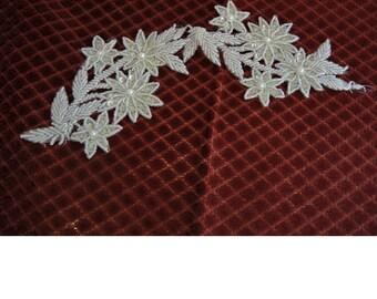 Bridal Applique - Iridescent Sequin Applique