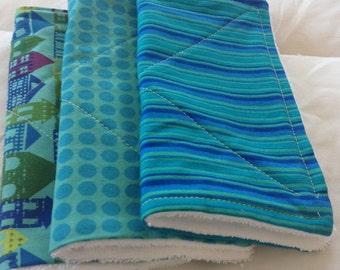 Cotton/Terry Wash cloths set of 3