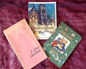 Vintage 40's Christmas Carol Booklets Unusual Songs Set Of 3
