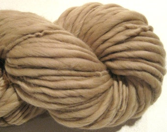 Handspun Yarn, Cafe Au Lait 104 yds, brown yarn, tan yarn, merino wool yarn, knitting supplies, crochet supplies, waldorf doll hair
