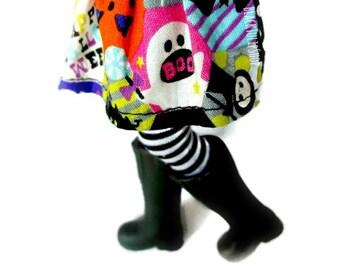 Halloween Doll Clothes Fashion Doll Skirt Halloween Costume Kawaii Japanese Fabric 11 inch Doll Skirt Creepy Cute Blythe Pullip Doll Clothes