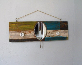 The Key To My Heart Mirrored Wall Hanging